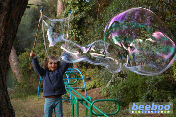 This bubble wand performs much better than homemade wands