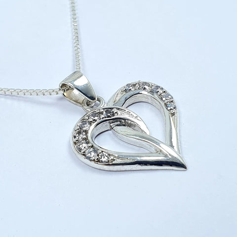 Collar Corazon Love 1 Plata Ley