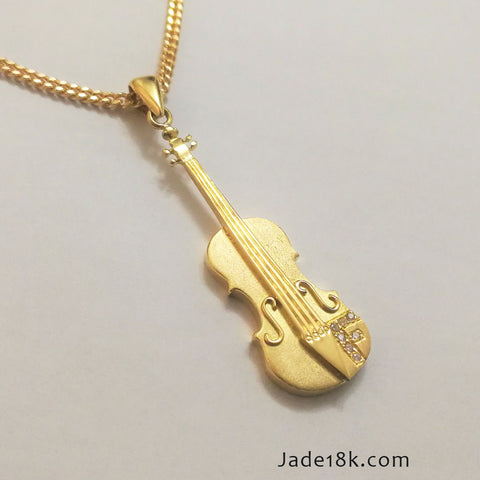 Collar de Violin Oro 18k