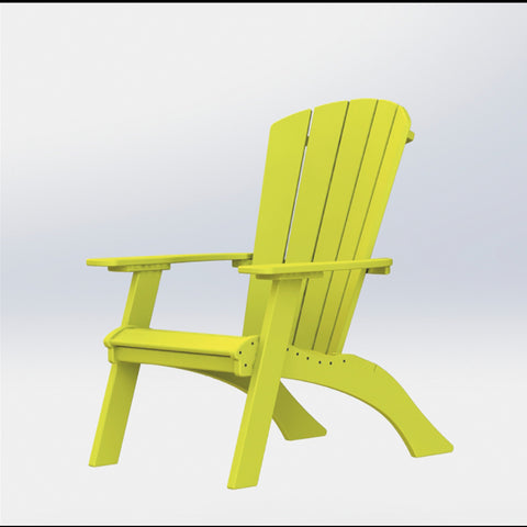 Side view of #1250 Raised Adirondack by Blue Springs