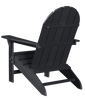 Wildridge Freedom Collection Traditional Adirondack in Black, Back Angle