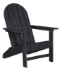 Wildridge Freedom Collection Traditional Adirondack in Black, Front Angle