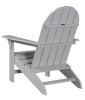 Wildridge Freedom Collection Traditional Adirondack in Light Gray, Back Angle