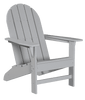 Wildridge Freedom Collection Traditional Adirondack in Light Gray, Front Angle