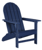 Wildridge Freedom Collection Traditional Adirondack in Patriot Blue, Front Angle