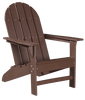 Wildridge Freedom Collection Traditional Adirondack in Tudor Brown, Front Angle