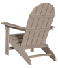 Wildridge Freedom Collection Traditional Adirondack in Weathered Wood, Back Angle