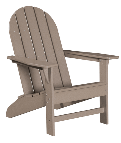 Wildridge Freedom Collection Traditional Adirondack in Weathered Wood, Front Angle