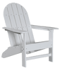 Wildridge Freedom Collection Traditional Adirondack in White, Front Angle