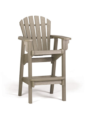 Breezesta Coastal Bar Chair in Weatherwood Front View