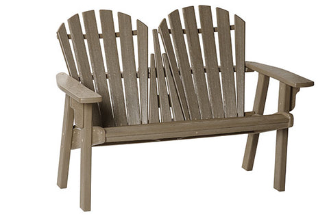 Breezesta Coastal Bench in Weatherwood Front View
