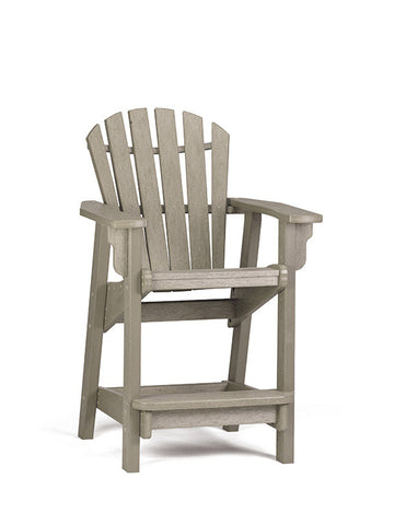 Breezesta Coastal Counter Chair in Weatherwood Front View
