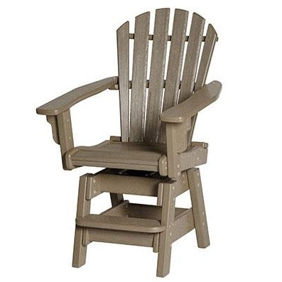 Breezesta Coastal Swivel Counter Chair in Weatherwood Front View