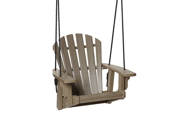 Breezesta Coastal Single Swing in Weatherwood Front View