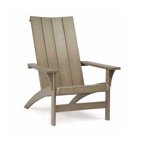 Breezesta Contemporary Adirondack in Weatherwood (side angle)