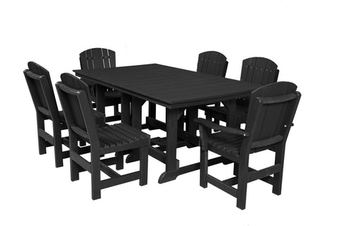 "Wildridge Black 44""x72"" Table Set with 6 Chairs"
