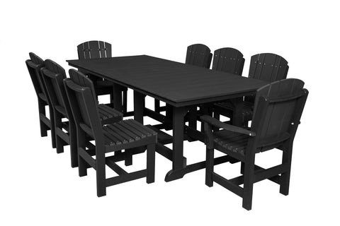 "Wildridge Black 44""x94"" Table Set with 8 Chairs"