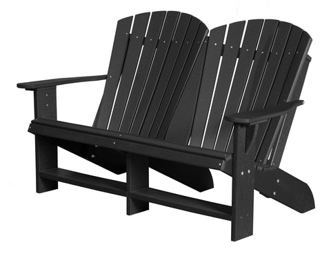Wildridge Black Heritage Double Adirondack