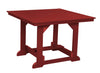 "Wildridge Cardinal Red 44""x44"" Table"