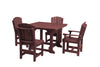 "Wildridge Cherrywood 44"" Table Set with 4 Chairs"