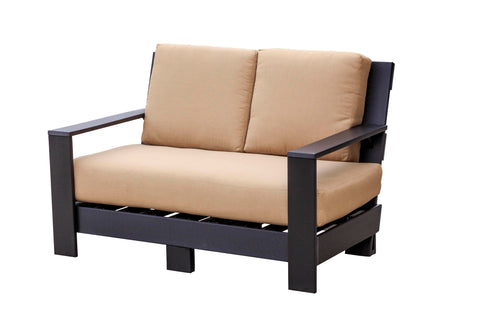 Wildridge Contemporary Deep Seat Love Seat with Cushions