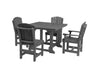 "Wildridge Dark Gray 44"" Table Set with 4 Chairs"
