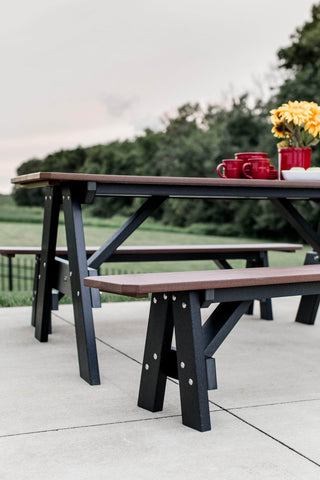 Wildridge Heritage Picnic Table with Unattached Benches