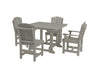 "Wildridge Light Gray 44"" Table Set with 4 Chairs"