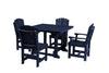 "Wildridge Patriot Blue 44"" Table Set with 4 Chairs"