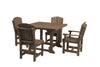 "Wildridge Tudor Brown 44"" Table Set with 4 Chairs"