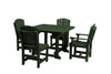 "Wildridge Turf Green 44"" Table Set with 4 Chairs"