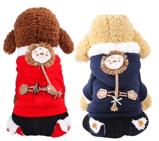 Winter Dog Cotton Clothes for Small and Medium Dogs