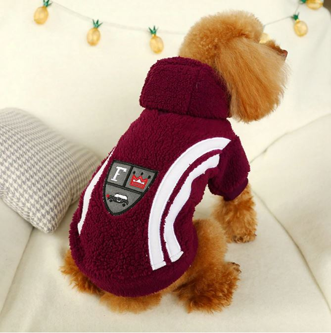 Warm Fleece Winter Dog Clothes for Small and Medium