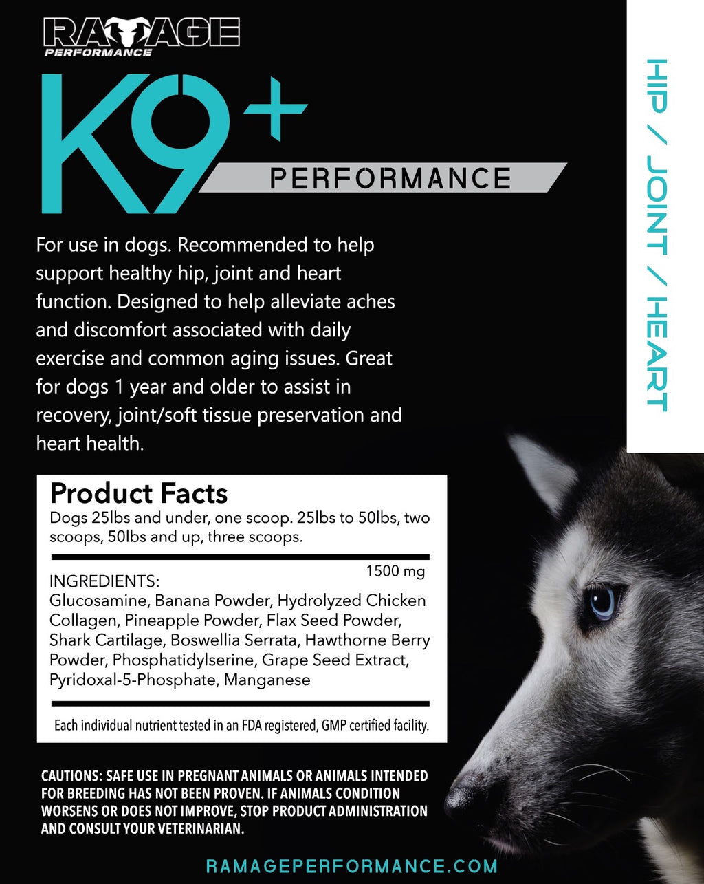K9+ Performance for dogs