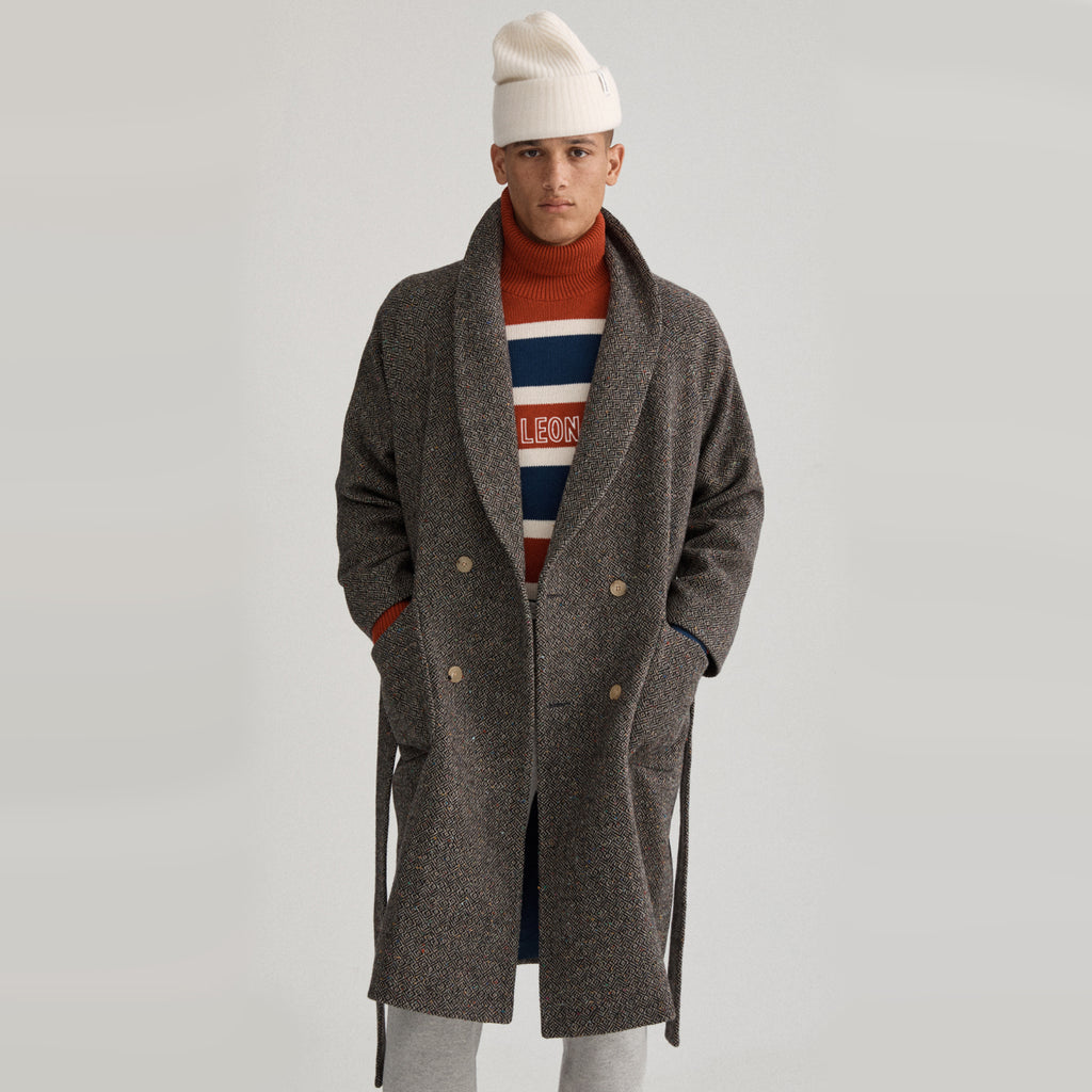 DONEGAL TWEED SHAWL COAT - Outerwear Aimé Leon Dore