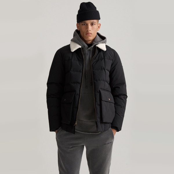 QUILTED DOWN PUFFER - BLACK