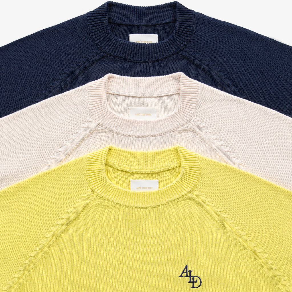 MONOGRAM KNIT SWEATER - YELLOW