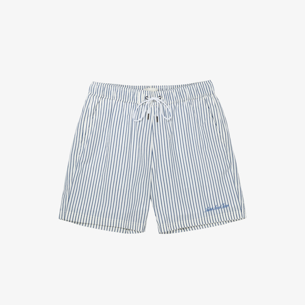 STRIPED SHORTS - NAVY