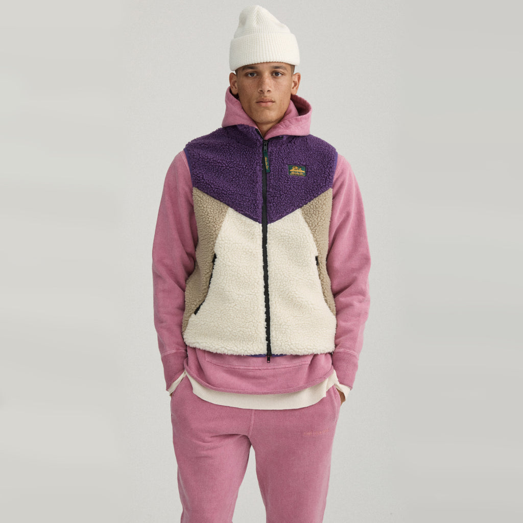 POLAR FLEECE VEST - PURPLE