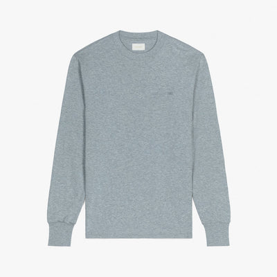 LS LOGO TEE - HEATHER GREY