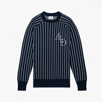 STADIUM KNIT CREWNECK - NAVY