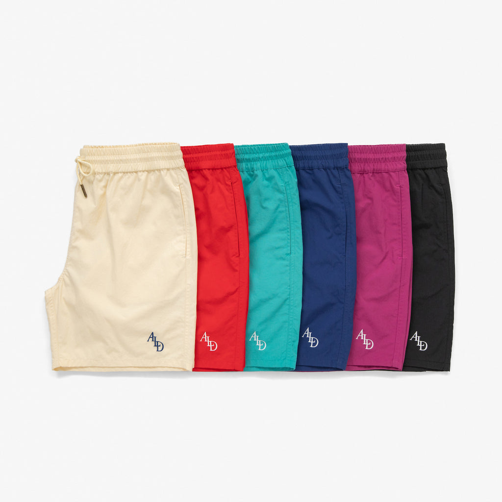 MONOGRAM NYLON SHORTS - NAVY