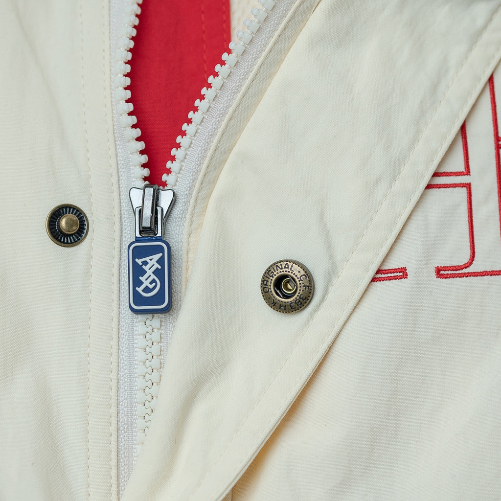 COLOR BLOCKED NYLON WINDBREAKER - CREAM - Outerwear Aimé Leon Dore