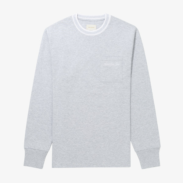 LS RIBBED COLLAR TEE