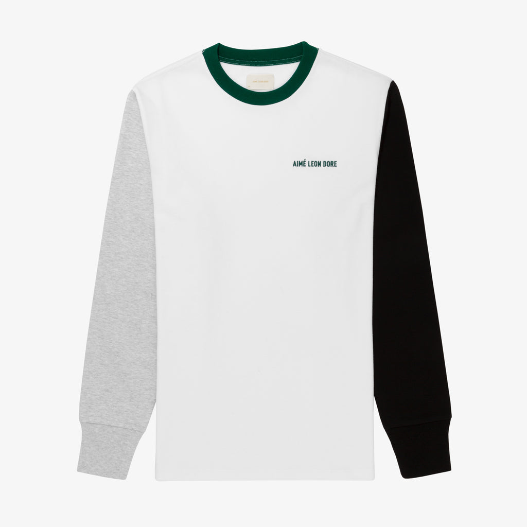 LS COLOR BLOCKED TEE