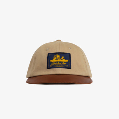 LEATHER BRIM LOGO HAT