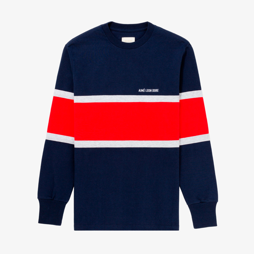 CHEST STRIPE LS JERSEY TEE