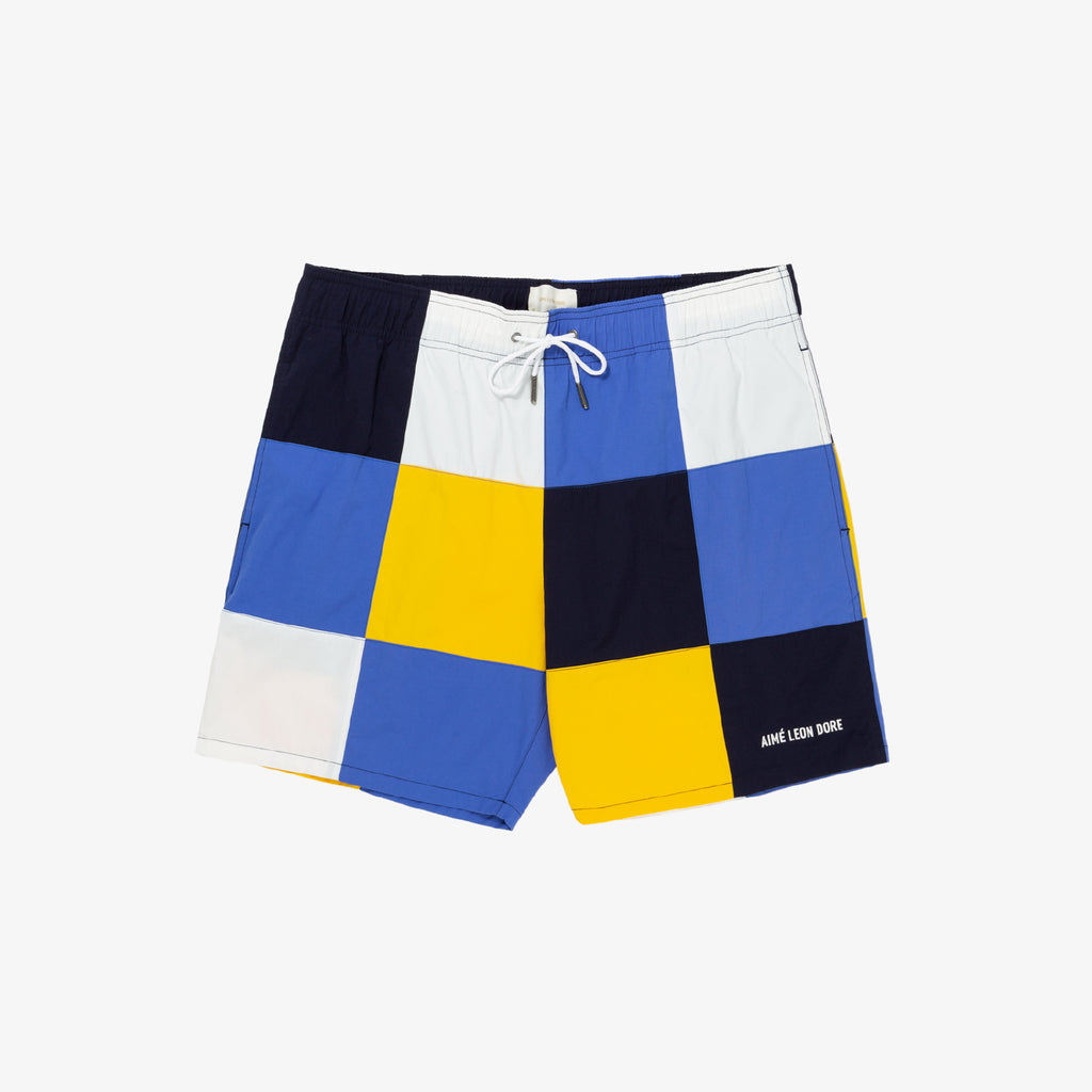 CHECKERED NYLON SHORTS