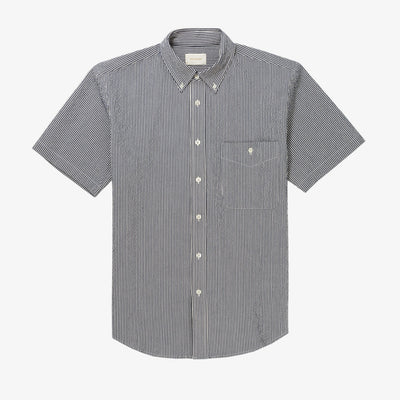 SS SEERSUCKER BUTTON DOWN SHIRT