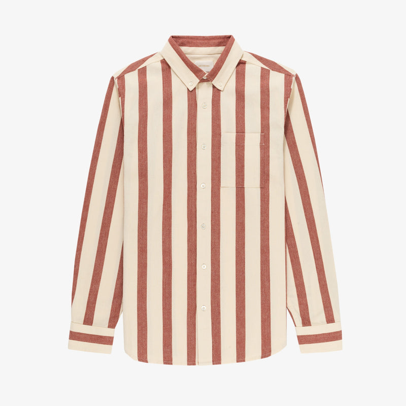 Washed Striped Oxford Shirt